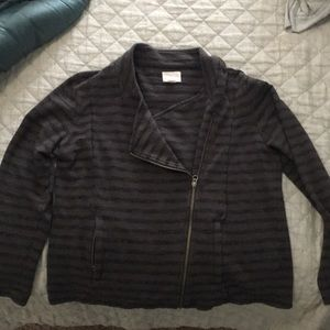 Striped Moto jacket by Caslon size XL